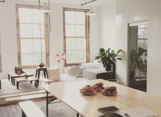 Photo of a venue space used for the Think Clearly Bootcamp in New York. The bootcamp is a one day course in visual thinking taught by Mathias Jakobsen. It will happen in major cities all over the world.